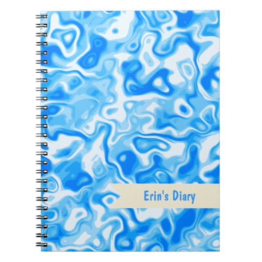 Blue Water texture diary / journal / notebook