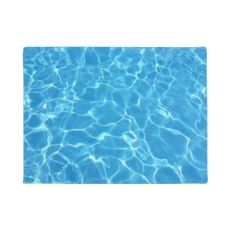 Blue Water Texture Doormat