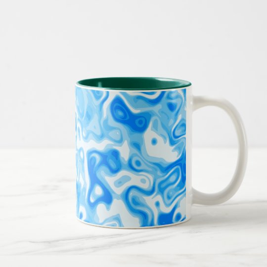 Blue Water texture Two-Tone Coffee Mug