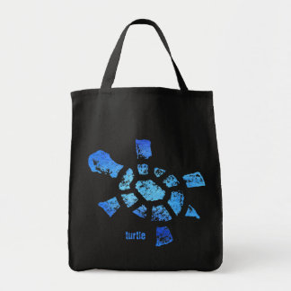 Blue Water Turtle Tote Bags