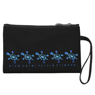 Blue Water Turtle Friends Wristlet