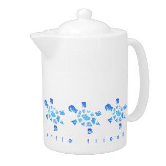 Blue Water Turtle medium Teapot