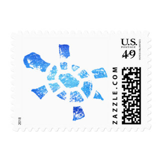 Blue Water Turtle Postage
