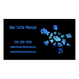 Blue Water Turtle Rescue Business Card Template