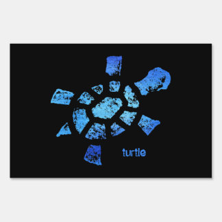 Blue Water Turtle small or large Sign