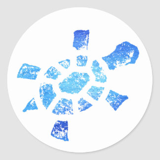 Blue Water Turtle Stickers