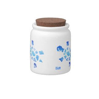Blue Water Turtles Candy Jar