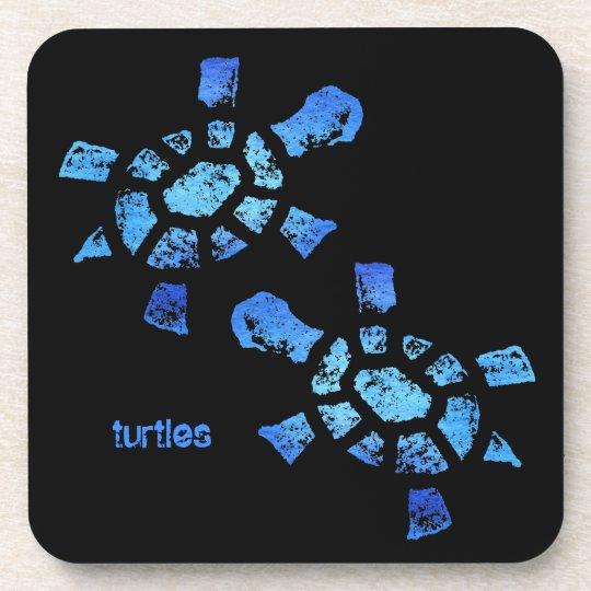 Blue Water Turtles Drink Coaster