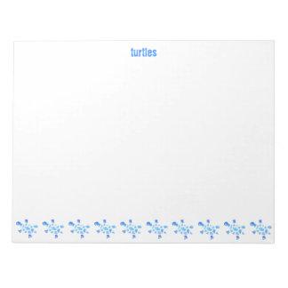 Blue Water Turtles Notepad