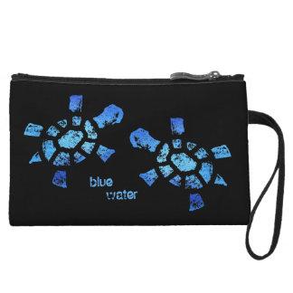 Blue Water Turtles Wristlet