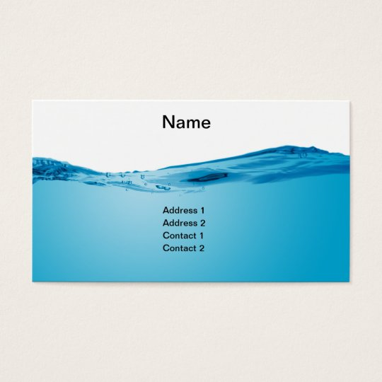 Blue water wave business card