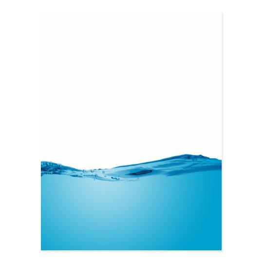 Blue water wave postcard