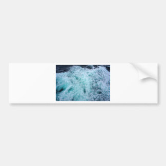 Blue Water Waves Bumper Sticker