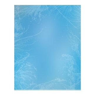 Blue water wings letterhead template
