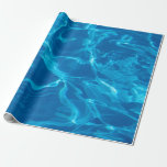 Blue water wrapping paper
