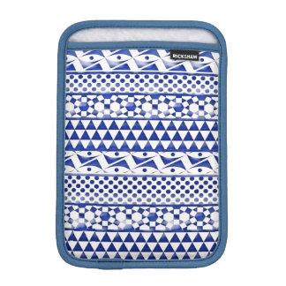 Blue Watercolor Abstract Aztec Tribal Print Pattrn Sleeve For iPad Mini
