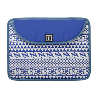 Blue Watercolor Abstract Aztec Tribal Print Pattrn Sleeves For MacBook Pro