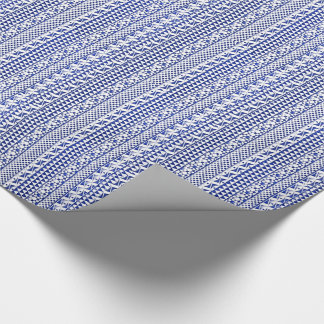 Blue Watercolor Abstract Aztec Tribal Print Pattrn Gift Wrap