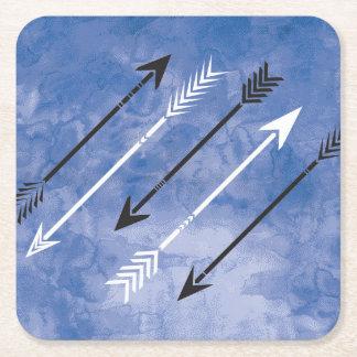 Blue Watercolor Arrow Coasters