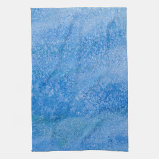Blue Watercolor Background Hand Towel