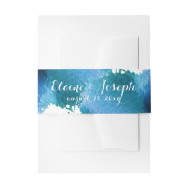 blue Watercolor brush stroke belly band