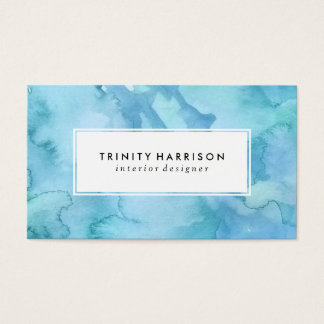 Blue Watercolor | Chic Modern Business Card