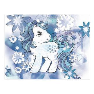 Blue Watercolor Design Postcard