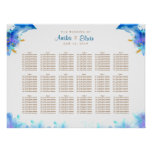 Blue Watercolor Dolphin Wedding Seating Chart