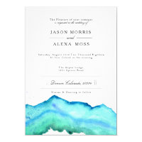 Blue Watercolor | Elegant Wedding Card