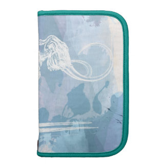 Blue Watercolor Elephant Skeleton Planner