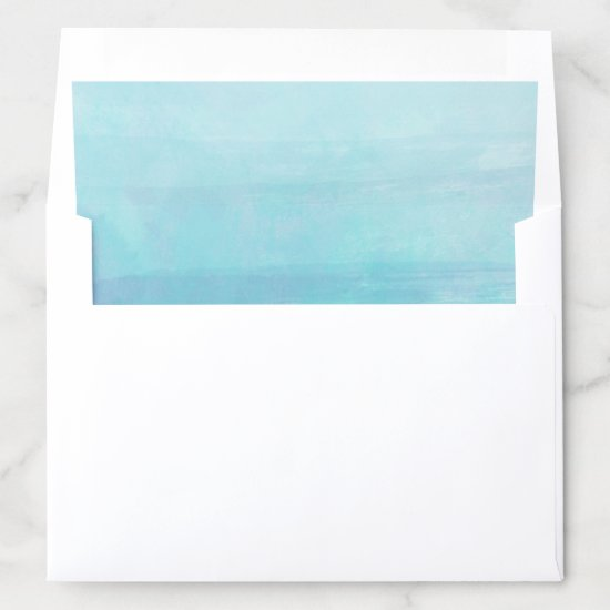 Blue Watercolor Envelope Liner 5x7 A7