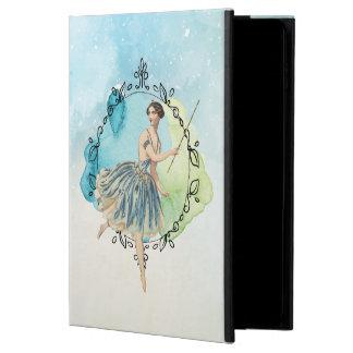 Blue Watercolor Fairy Wand Leaf Edged Frame Powis iPad Air 2 Case