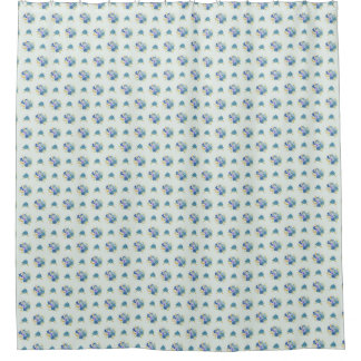 mint green shower curtain. Blue Watercolor Flowers  Mint Green Shower Curtain Curtains Zazzle