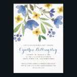 "Blue Watercolor Flowers | Retirement Party Invitation<br><div class=""desc"">This gorgeous retirement dinner invitation features pretty watercolor flowers,  foliage,  and berries,  along with a rustic calligraphy script.</div>"