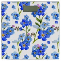 Blue Watercolor Forget-me-not Flowers Bathroom Scale