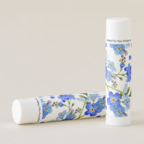 Blue Watercolor Forget-me-not Flowers Lip Balm