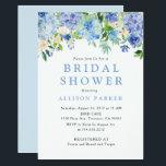 "Blue Watercolor hydrangea Bridal Shower Invitation<br><div class=""desc"">Blue Watercolor hydrangea Bridal Shower Invitation</div>"