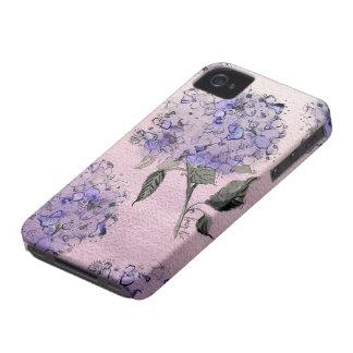 Blue Watercolor Hydrangea iPhone Case iPhone 4 Cases