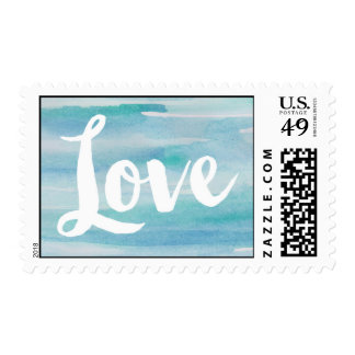 Blue Watercolor Love Stamps