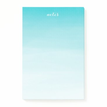 Blue Watercolor Ombre Personalized Post-it Notes