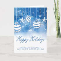 Blue Watercolor Ornaments | Holiday Greetings
