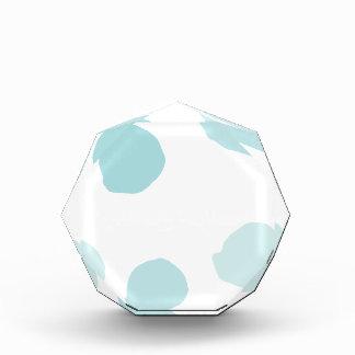 Blue Watercolor Polka Dots Acrylic Award