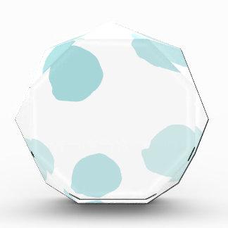 Blue Watercolor Polka Dots Award