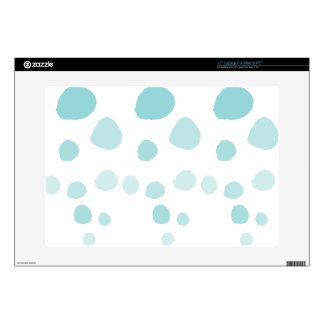 """Blue Watercolor Polka Dots Skins For 15"""" Laptops"""