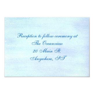 """Blue Watercolor"" Reception Cards"
