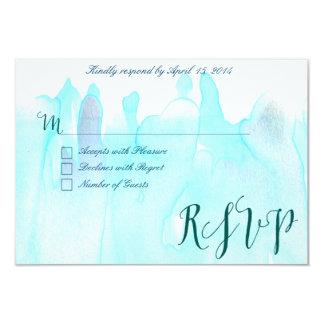 Blue watercolor RSVP Cards