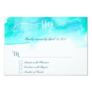 Blue watercolor RSVP Cards II