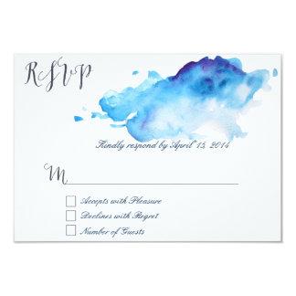 Blue watercolor RSVP Cards III