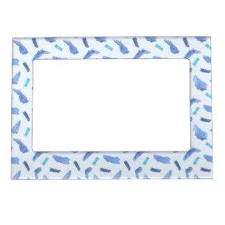 Blue Watercolor Spots Magnetic Frame