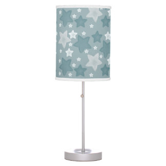 Blue Watercolor Stars Table Lamp
